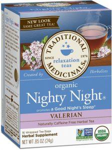 nighty night tea with valerian